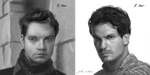 20130208 Male Face Studies by NateHallinanArt