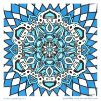 Rainy Day Blues Mandala by Quaddles-Roost