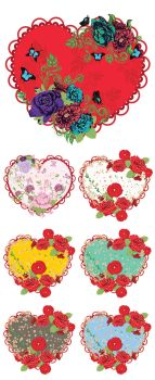 Vintage Roses Ornament and Heart by AnnArtshock
