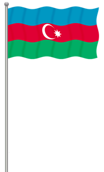 Flag of Azerbaijan by llmatako