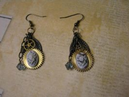 Steampunk Earrings on Filigree by bcainspirations