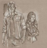 WIP 2 Sam Winchester and Ruby by scotty309