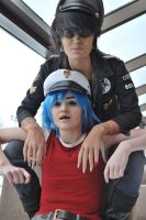 Murdoc and 2-D by FunnaCosplay