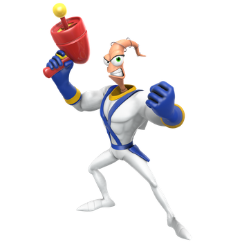 Earthworm Jim Render by Nibroc-Rock
