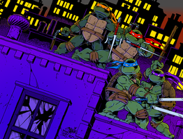 TMNT Issue 1 Cover Recreation (Colors) by villithorne