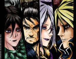Soul Calibur Faces colored by kadenfukuyama