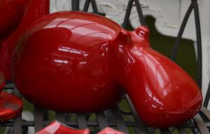 Hippopotamus red by re--creation