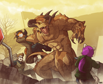 Deathclaw Disaster by Blazbaros