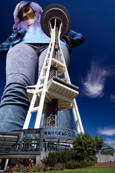 Towering over the tower by SashaNine