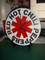 Red Hot Chili Peppers Clock by artbyabbey