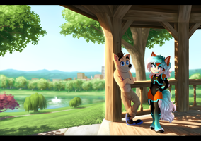 A Date in the Park by Nightrizer