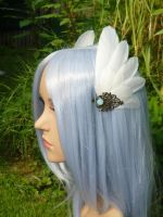 Little Valkyrie - Winged Hairclips by Ganjamira