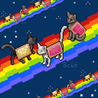 Nyan Catten (UPDATE version 2.0) by AnScathMarcach