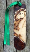 Pyrography- Rearing Horse Bookmark by BumbleBeeFairy