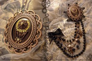 Steampunk brooch 'Aeronaut' by Vadien