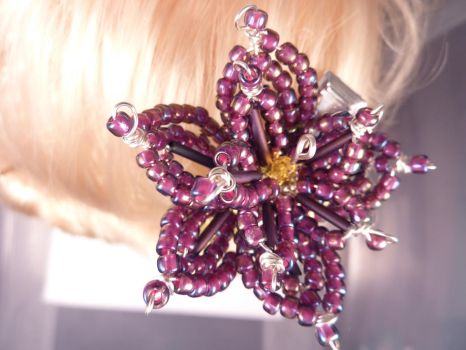 Purple Lotus Hair Clip by hillarybewilson