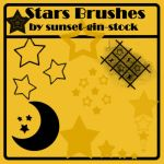 Stars Brushes by sunset-gin-stock