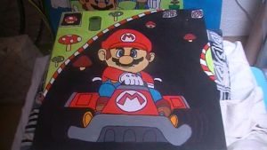 Mario Kart painting by Chaoslink1