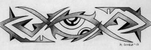 Third Eye Armband Tattoo Design 02 by Insanemoe