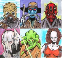 Star Wars Sketch cards by TonyMiello