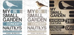 3 affiches concert My Small Garden by Koogan