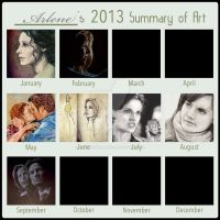 2013 Art Summary by StandsWithAPencil