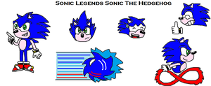 Sonic Legends Sonic by scifiguy9000