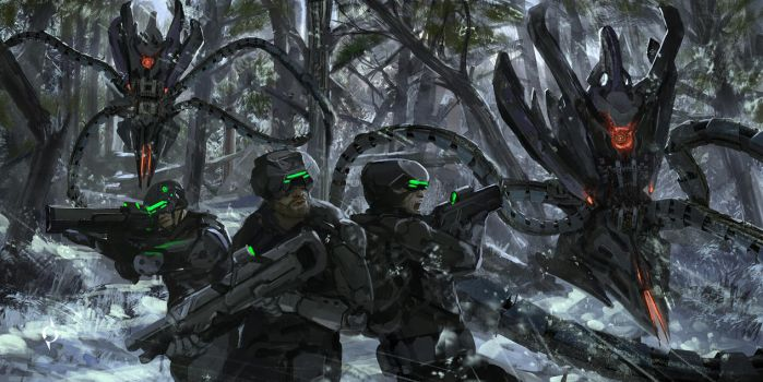 Hunter being hunted by novaillusion