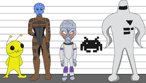 Alien Lineup by glsnifit