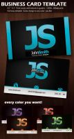 Business Card template PSD by yuval10203