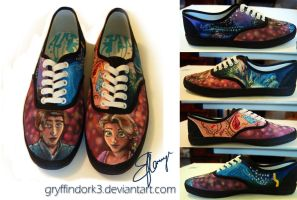 Tangled Shoes (Hand Painted) by Gryffindork3