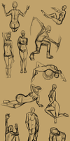 5min Figure drawings by VengefulSpirits