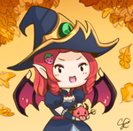 Bewitching Morgana with Devil Poro by Liansa