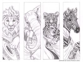 African Bookmark Sketches by Leopreston
