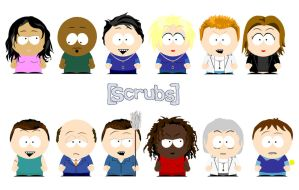 South Park Scrubs by simplexcalling