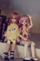 Dollmeet Fat Dragon: Lucre and Kyurin by darknaito