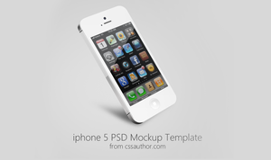Beautiful iPhone 5 Mockup PSD Template for Free by cssauthor