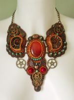 Steampunk necklace by Priscillascreations