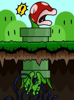 Piranha Plant Tickled by Lord-Reckless