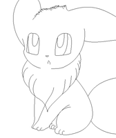 eevee lineart 9 by michy123