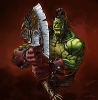 Grommash Hellscream by ncrow