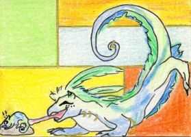 ACEO trade, DragonChameleon by Killslay-steelclaw