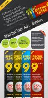 STANDARD WEB ADS BANNERS by FreePSDDownload