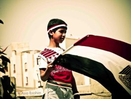 holding Egypt flag by asiaibr