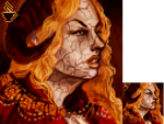 Renaissance Demon Premade Portrait-- SOLD by t-e-a-cup