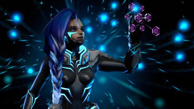 Overwatch | Sombra Cyberspace by EnoxSHD