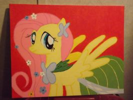 Fluttershy Painting by Texalma