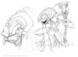 Creature sketches 9 by C-McCown