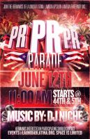 Puerto Rican Day Parade Party Flyer by V1sualPoetry