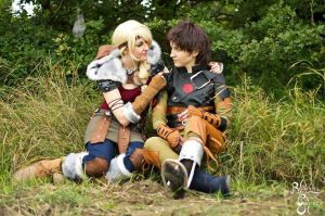 [Cosplay] Hiccup and Astrid - I by SunwardLight